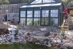 télikert építés garáb