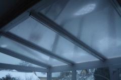 télikert tető alumínium merevítővel